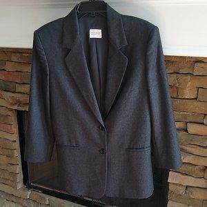 United Colors of Benetton Gray Wool Blazer M